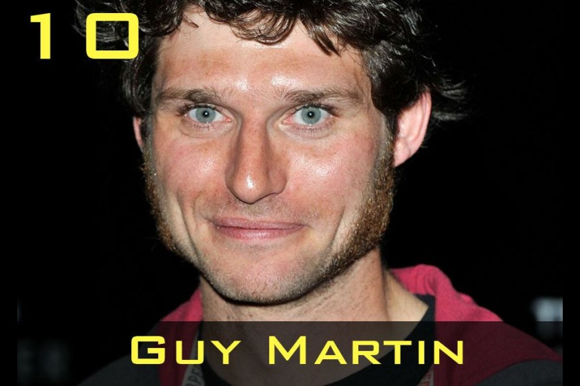 Guy Martin came 10th in the poll