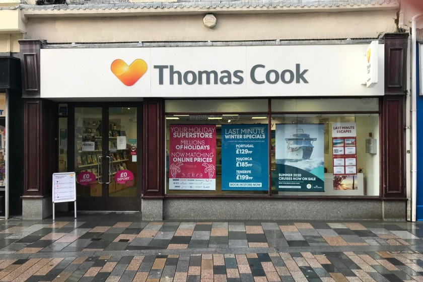 Thomas Cook store in Douglas