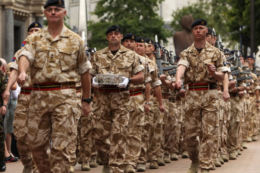 26 Royal Artillery in Birmingham last year (photo by Christopher Furlong/Getty Images)