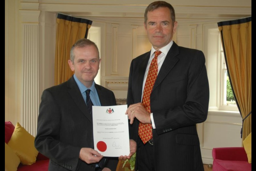 Richard Ronan MHK with Lieutenant Governor Adam Wood