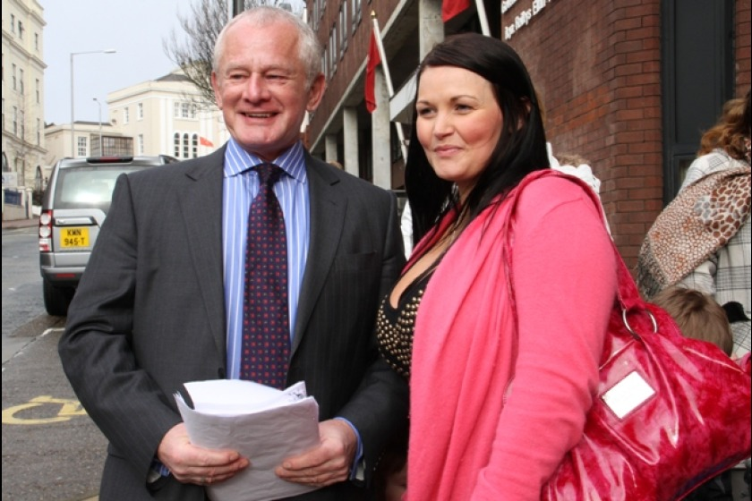 Chief Minister Allan Bell with campaigner Amy Burns