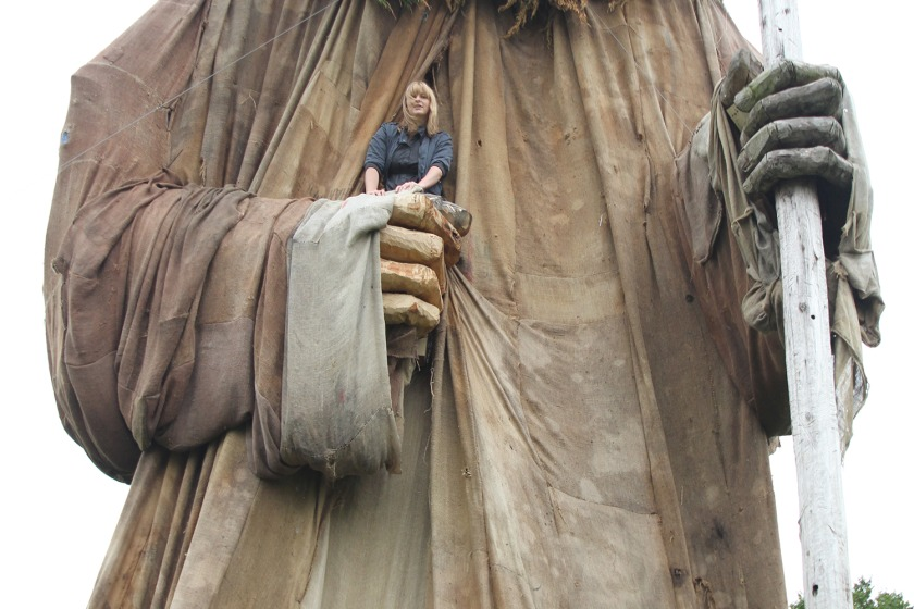 The massive Manannan sculpture by Steph Quayle and Darren Jackson is again the centre piece of Mannifest