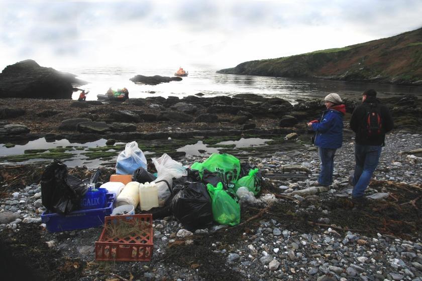 Volunteers helped clean Perwick Bay