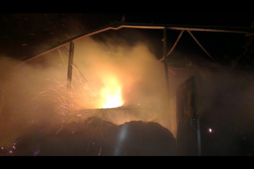 The blaze was at a barn in Ballaugh