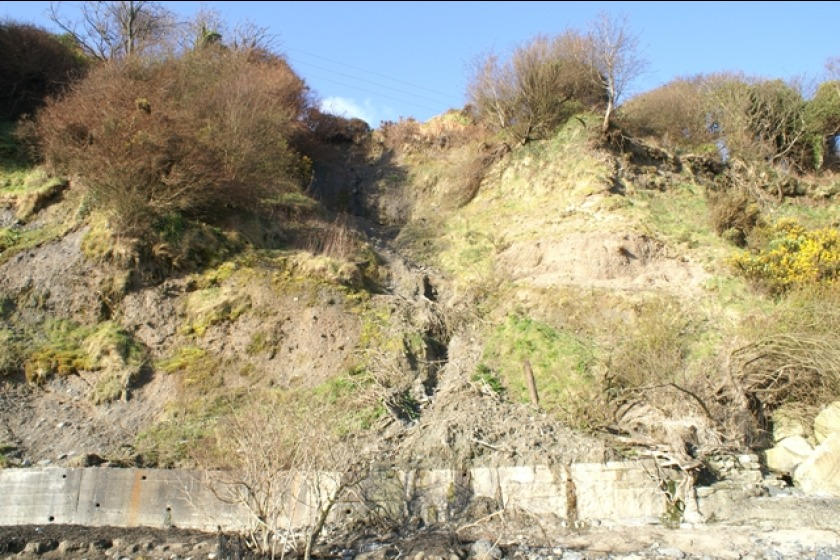 After the landslip at Ballure last year