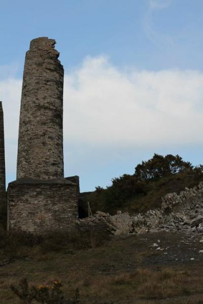 Beckwith's Mine chimney after the collapse