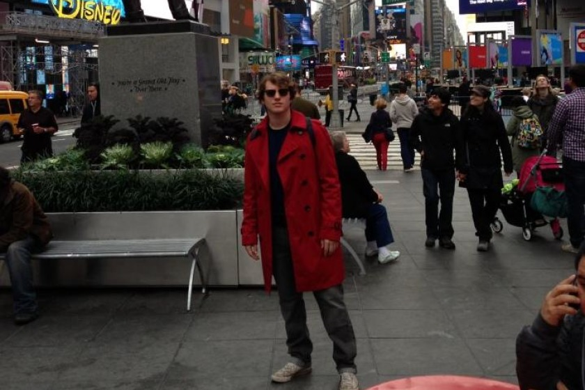 Ben Bateson is in New York on holiday