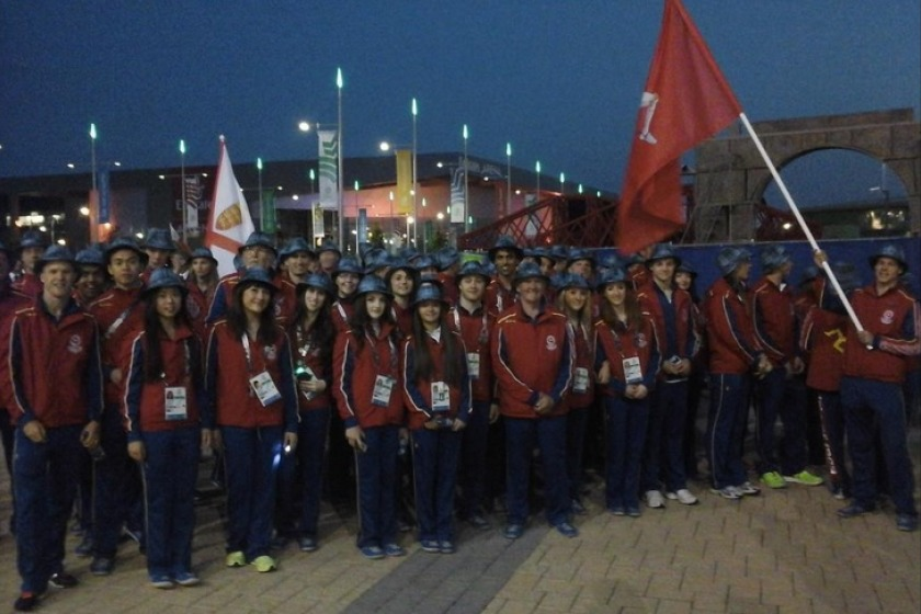Team Isle of Man at the opening ceremony