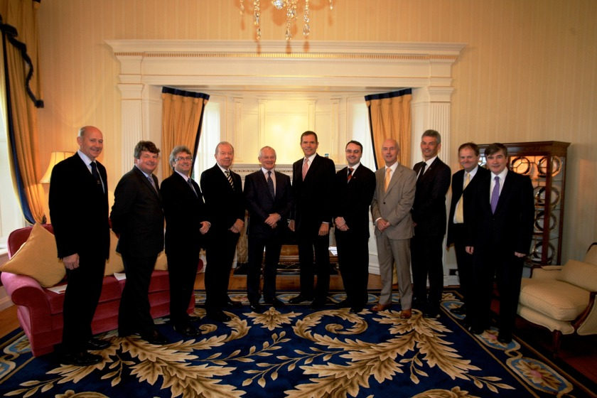 The Council of Ministers with Lieutenant Governor Adam Wood