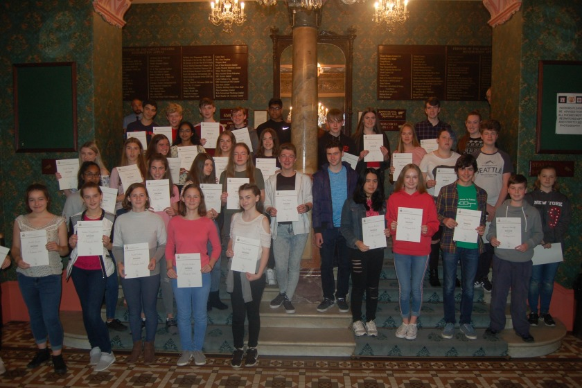 Ballakermeen students were  among those who received awards