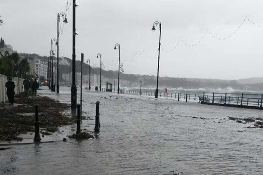 Flooding on Douglas Promenade on Saturday