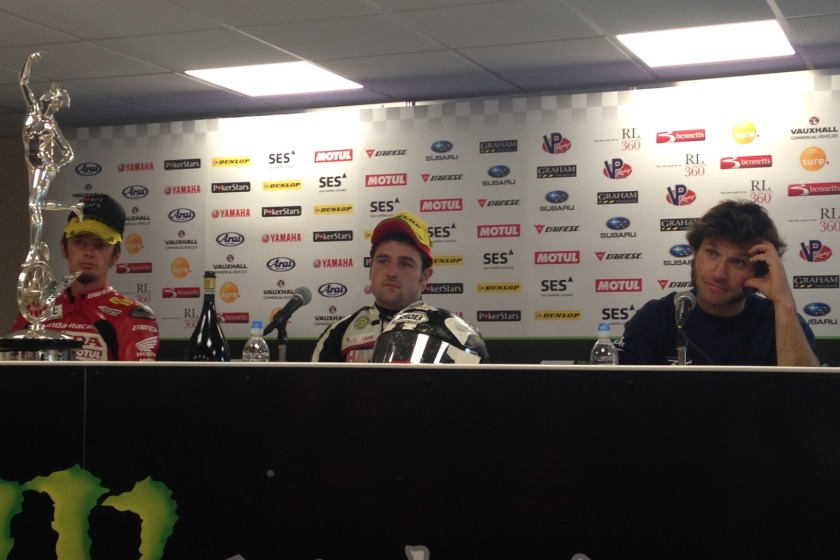 Guy turned up late to the Senior press conference
