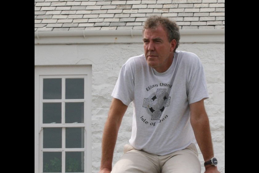 Jeremy Clarkson at his home on Langness