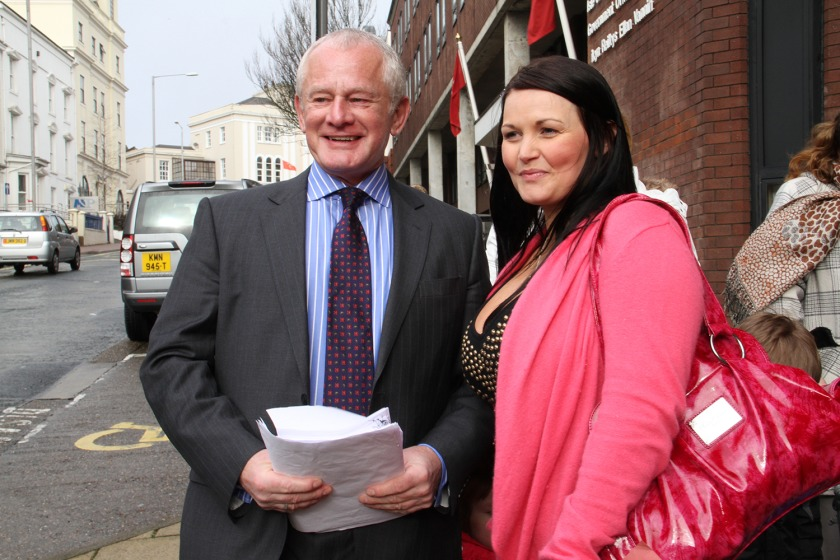 Chief Minister Allan Bell accepted a 3600 signature petition from Amy Burns on Tuesday