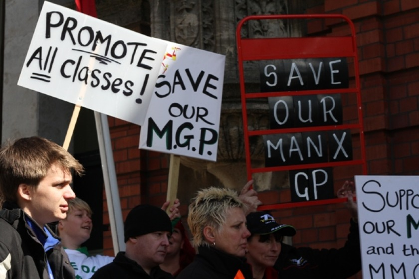Protesters make their feelings known over changes to the MGP