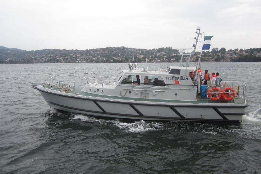 The boat on patrol near Freetown