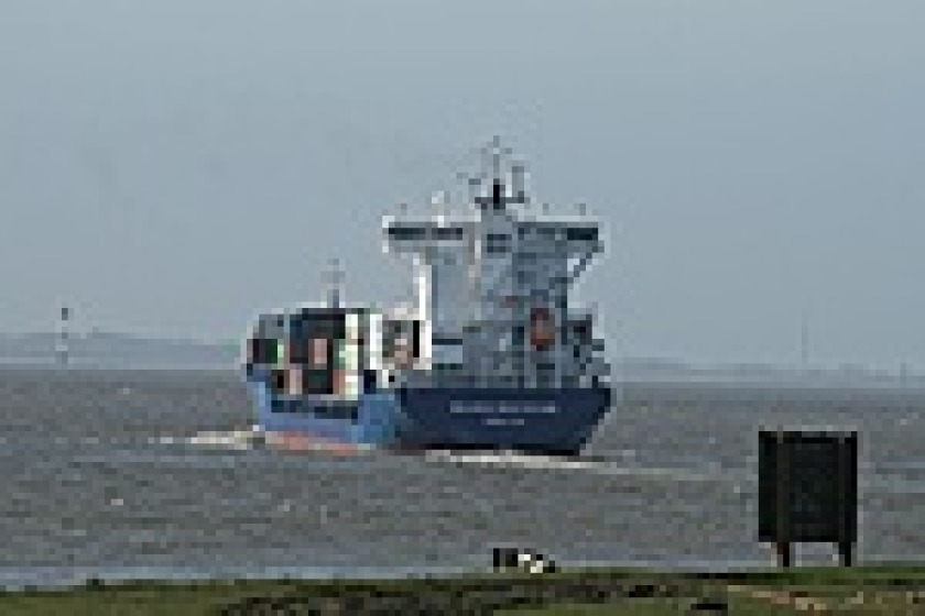 Gibralta registered container ship 'Philipp' was in collision with a trawler on Saturday