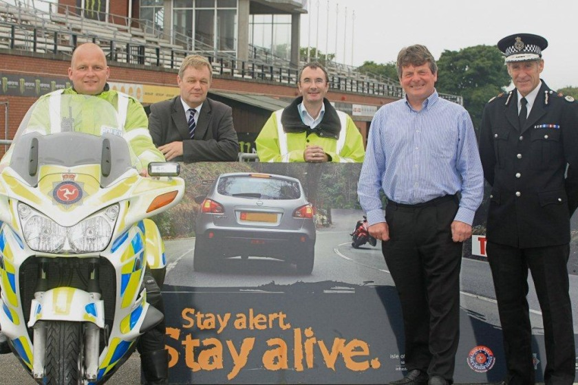 The road safety team launch the Manx Grand Prix campaign