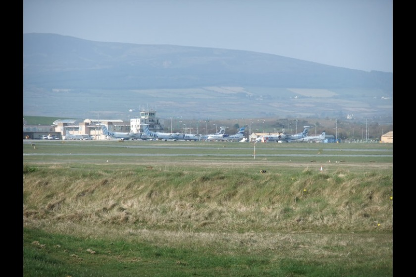 Aircraft grounded at Ronaldsway during last year's ash cloud