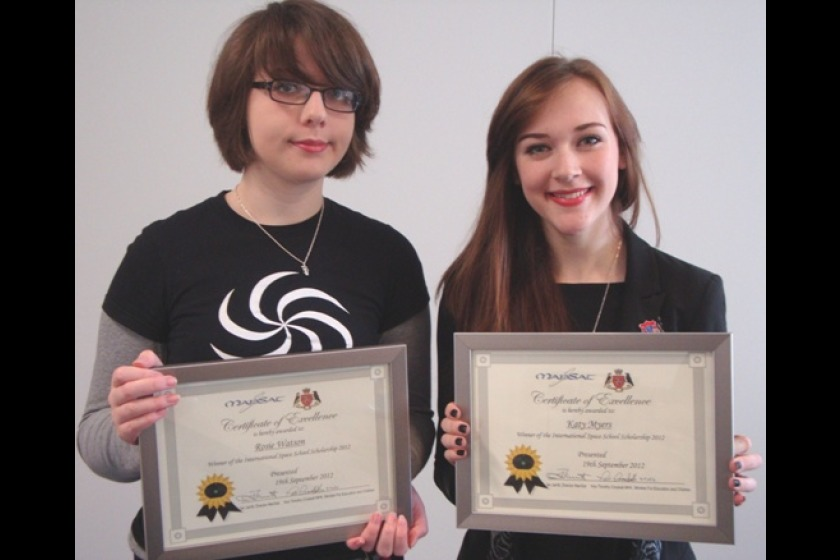 Rosie Watson (L) and Katy Myers took part in the scholarship programme