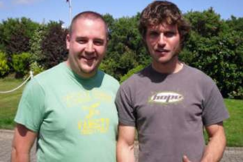 Guy Martin with Energy FM's JP last year