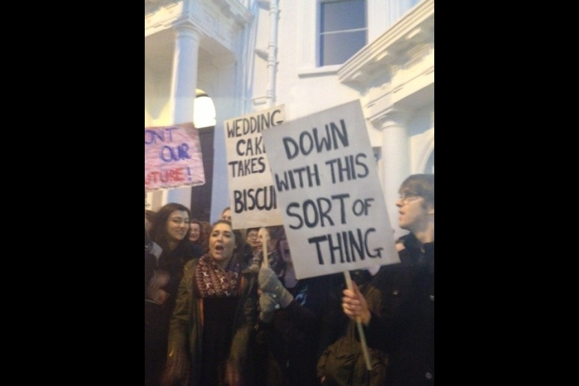 Student protests out Tynwald