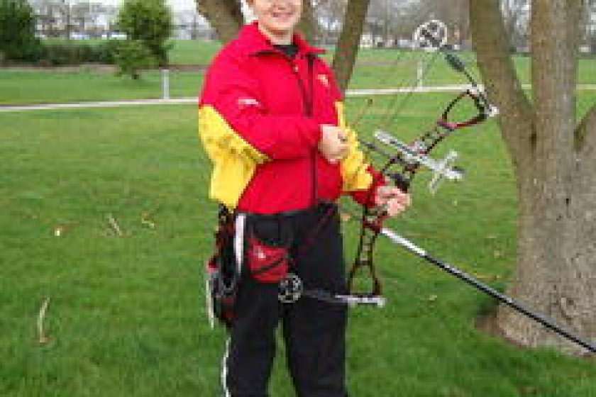 14 year old archer Aalin George is one of the Island's medal hopes