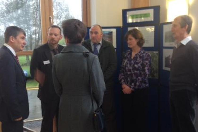 Princess Anne with DEFA Minister Phil Gawne