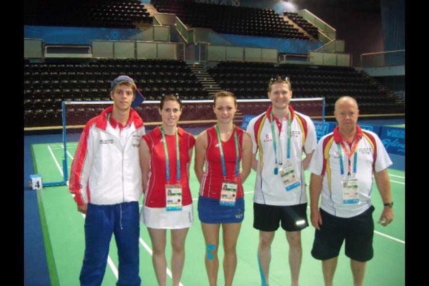 The Island's badminton team in Delhi