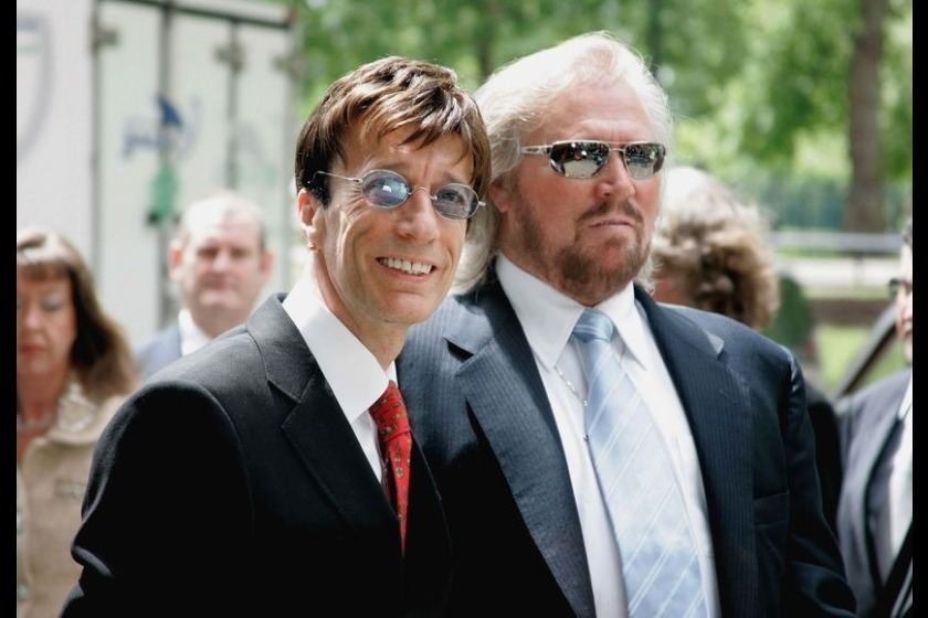 Robin Gibb (left) with brother Barry