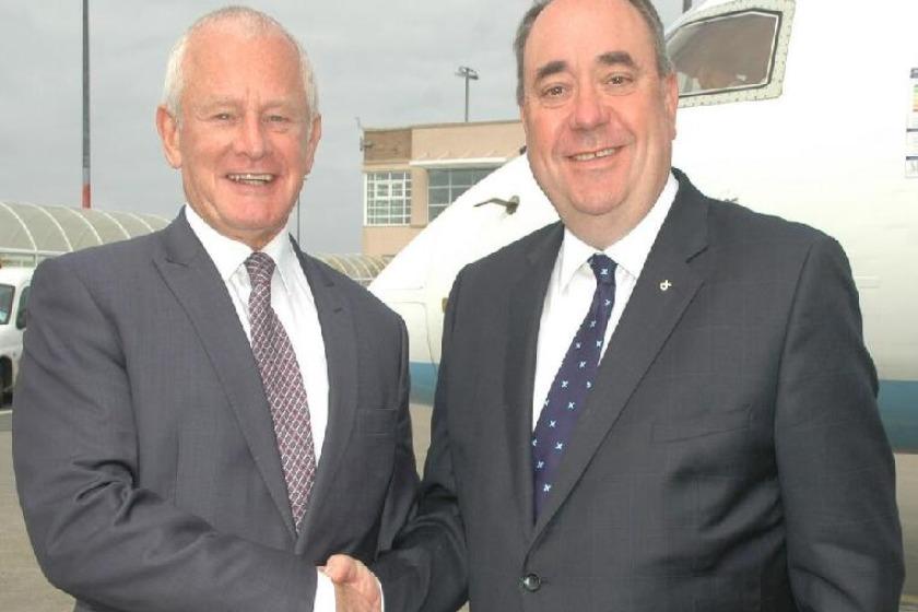 Allan Bell and Alex Salmond
