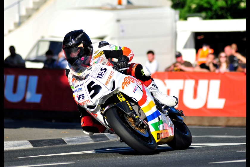 Bruce Anstey during last night's practice session