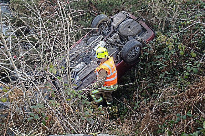 The driver had a lucky escape