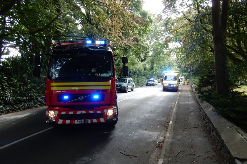 Fire & Rescue Crews at the scene by Bishopscourt