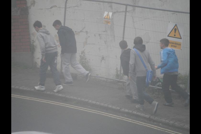 Police are keen to speak to the boys in this photograph