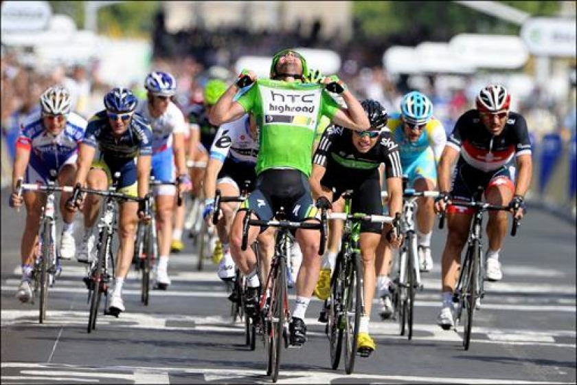 Mark Cavendish during this year's Tour de France