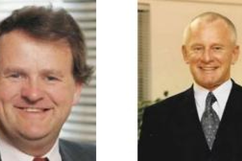 Peter Karran (left) and Allan Bell (right) have been nominated to be the Island's Chief Minister