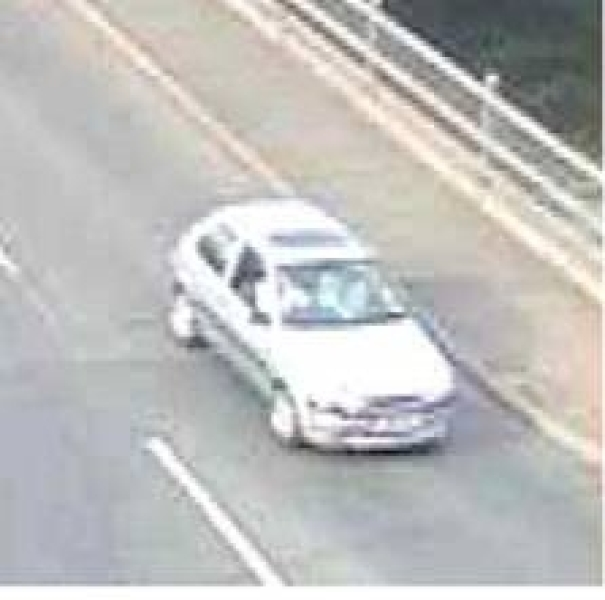 CCTV of the Ford Fiesta after the collision