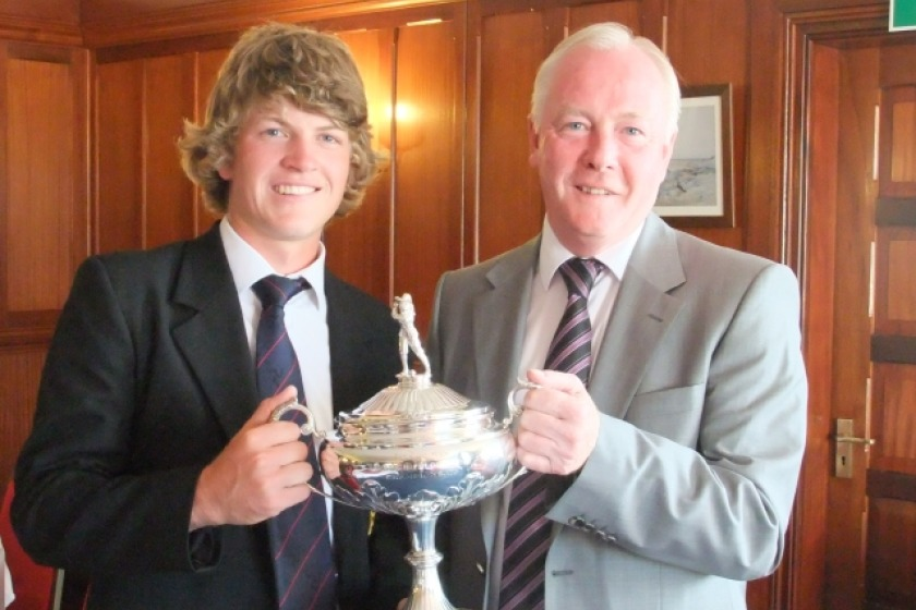 Daryl Callister after winning the IOM Golf Championships earlier this year