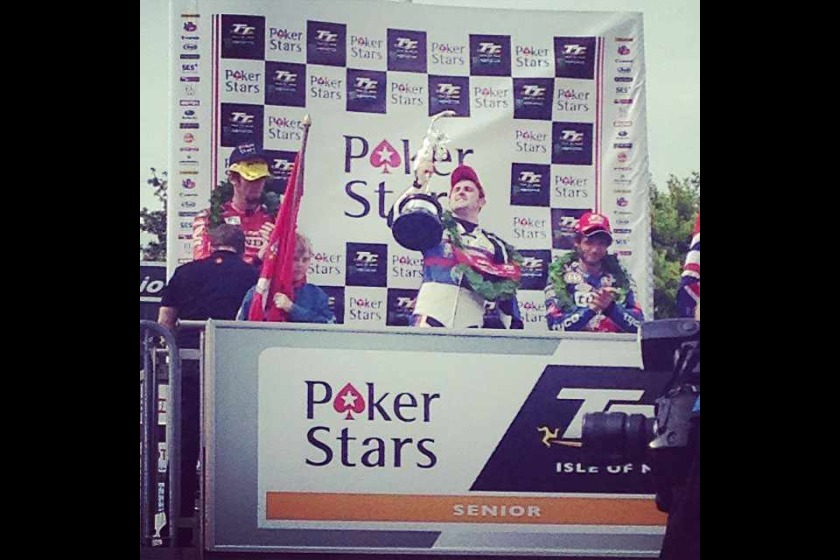 Michael Dunlop on the podium