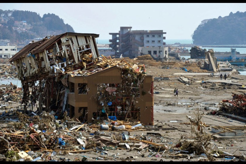 The aftermath of the Japan Earthquake (photo from Sky News)
