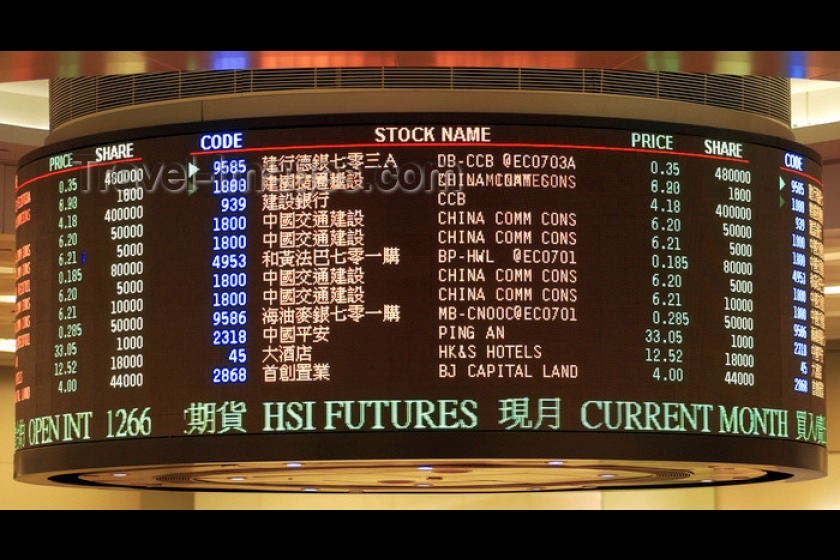 The Hong Kong Stock Exchange (image from travel-images.com)