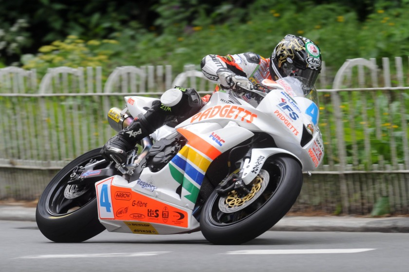 Ian Hutchinson won the first Supersport race on Monday