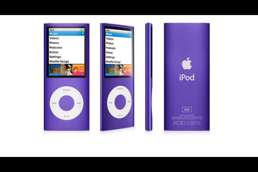 A purple iPod Nano, like that taken in the burglary
