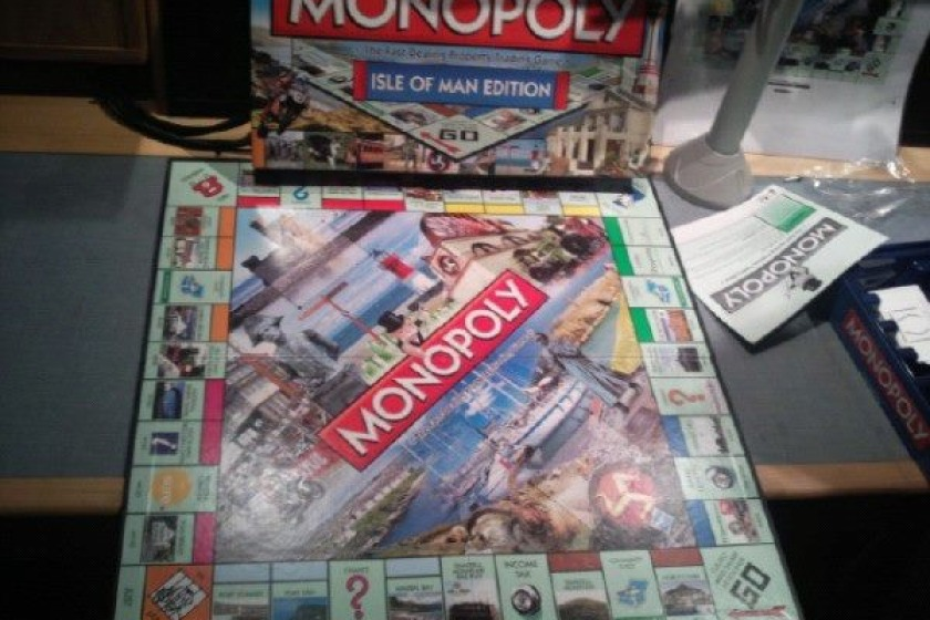 The Isle of Man Monopoly board