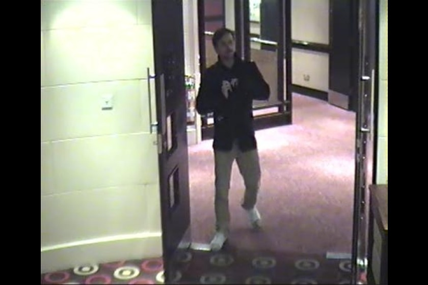 Police want to speak to this man about the theft of the jacket and mobile phone