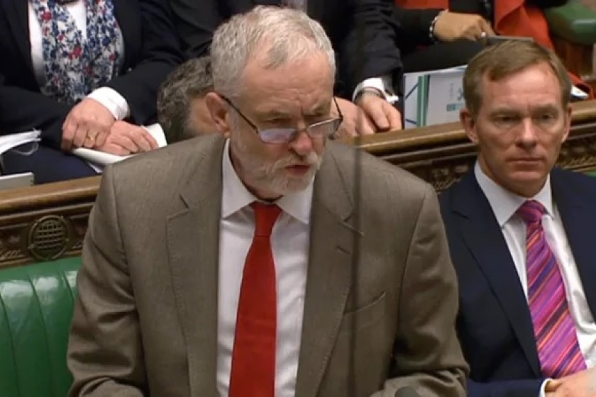 Jeremy Corbyn MP in the House of Commons.