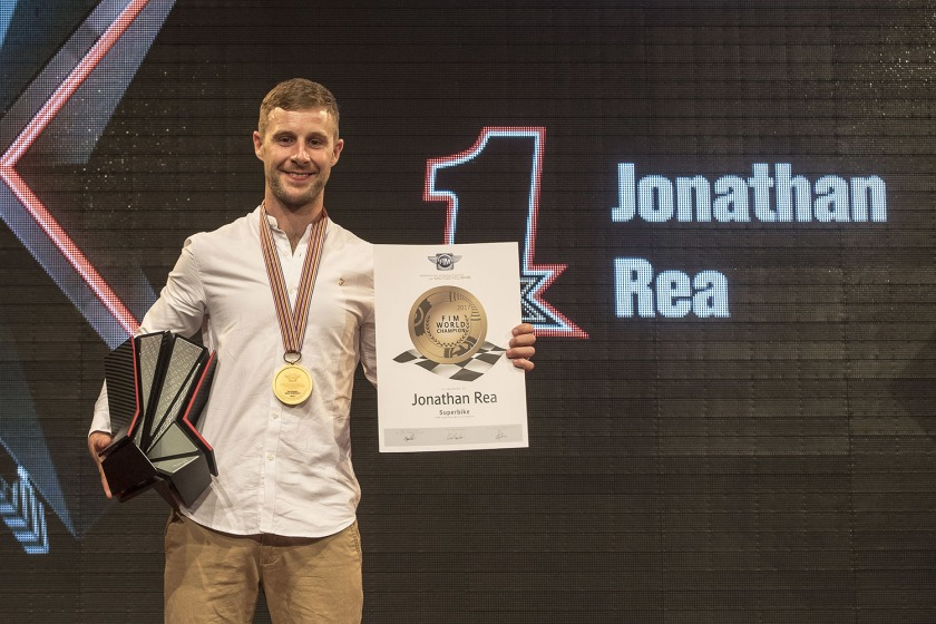 Jonathan Rea won the World Superbike Championship for the third year running.