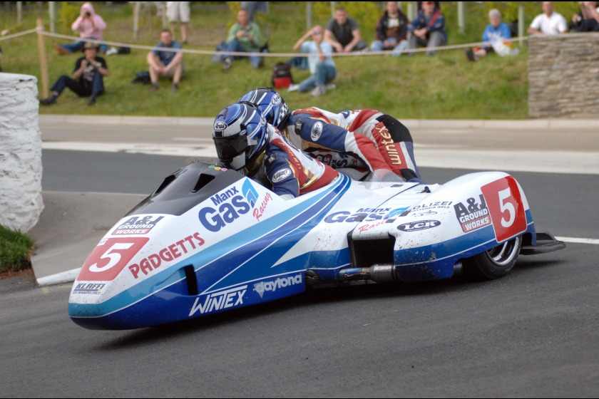 Klaus Klaffenbock and Dan Sayle from Sidecar race 1