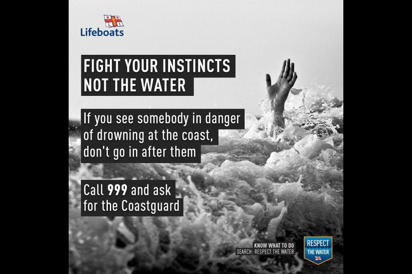 The RNLI is warning members of the public not to attempt rescues themselves.
